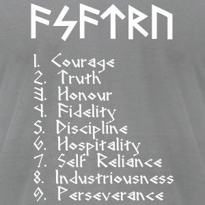 Asatru Virtues - Men's T-Shirt by American Apparel