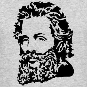 Herman Melville Portrait Long Sleeve Shirts - Men's Long Sleeve T-Shirt by Next Level