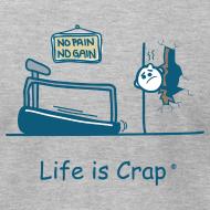 Design ~ Treadmill Wall Crash  - Mens T-Shirt by American Apparel