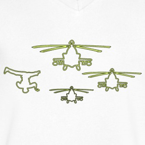 Helicopter Breaker T-Shirts - Men's V-Neck T-Shirt by Canvas