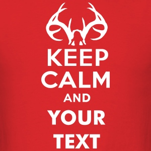 keep_calm_and_deer_hunt_text T-Shirts - Men's T-Shirt