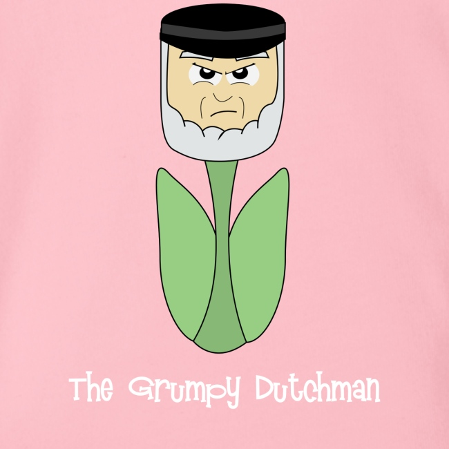Grumpy Tulip (with white lettering for darker shirts)