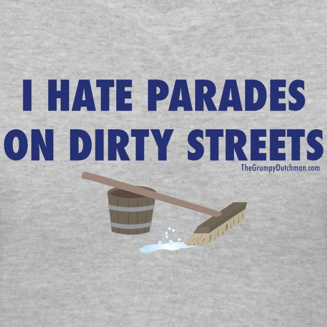 Parades (with blue letters for lighter shirts)