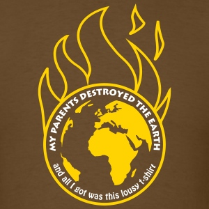 My parents destroyed the Earth alt T-Shirts - Men's T-Shirt