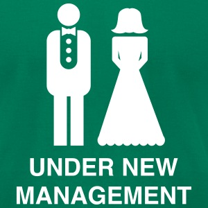 Bride/Groom Under New Management T-Shirts - Men's T-Shirt by American Apparel