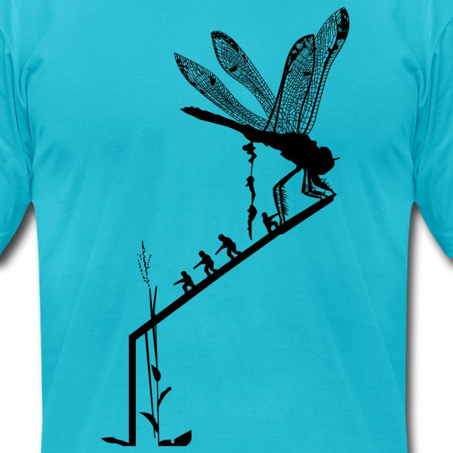 Dragonfly insertion - black silhouette