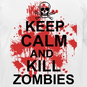 keep calm and kill zombies T-Shirts - Men's T-Shirt by American Apparel