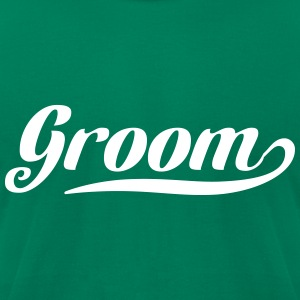 Groom Swoosh T-Shirts - Men's T-Shirt by American Apparel
