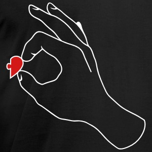 Couple Shirt Hand Heart Right T-Shirts - Men's T-Shirt by American Apparel
