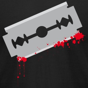 Bloody Ox Razor Blade Razorblade Blood T-Shirts - Men's T-Shirt by American Apparel