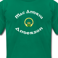 Design ~ Anderson Family Claddagh Tee for Men