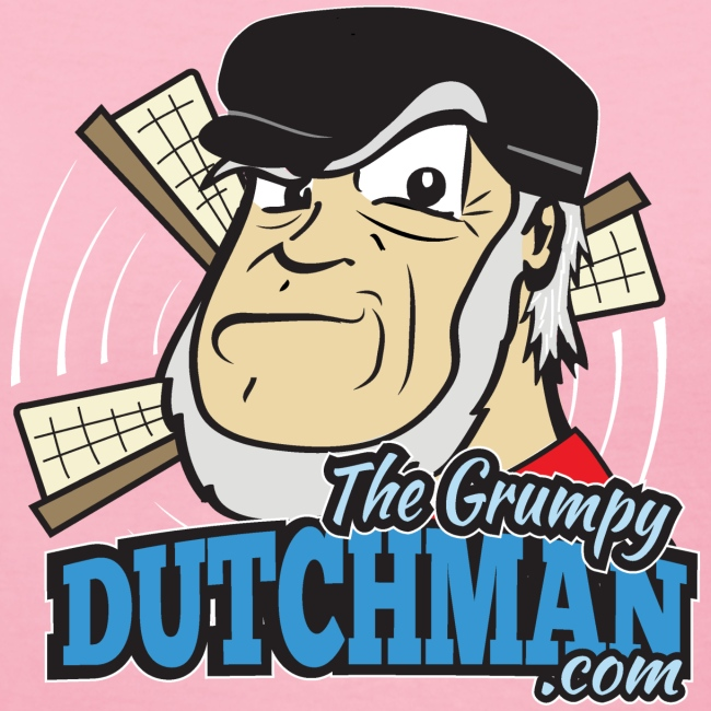 Grumpy Logo - Front (with white lines for darker shirts)