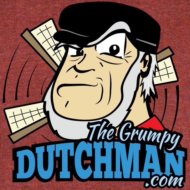 Grumpy Logo - Front (with dark lines for lighter shirts)