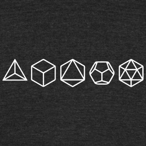 Platonic Solids, Sacred Geometry, Mathematics T-Shirts - Unisex Tri-Blend T-Shirt