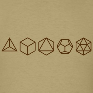 Platonic Solids, Sacred Geometry, Mathematics T-Shirts - Men's T-Shirt