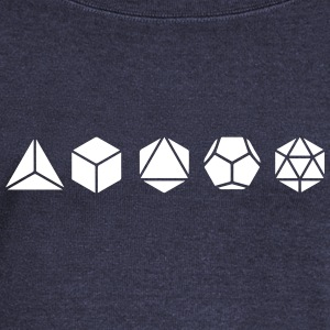 Platonic Solids, Sacred Geometry, Mathematics Long Sleeve Shirts - Women's Wideneck Sweatshirt