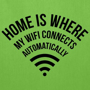 home is where my WIFI connects automatically Bags & backpacks - Tote Bag