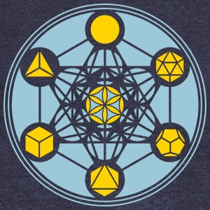 Platonic Solids, Metatrons Cube, Flower of Life Long Sleeve Shirts - Women's Wideneck Sweatshirt