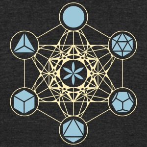 Platonic Solids, Metatrons Cube, Flower of Life T-Shirts - Unisex Tri-Blend T-Shirt by American Apparel