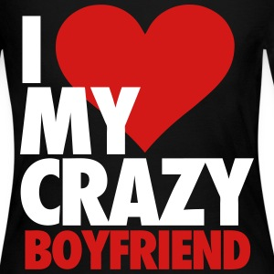I Love My Crazy Boyfriend Long Sleeve Shirts - Women's Long Sleeve Jersey T-Shirt