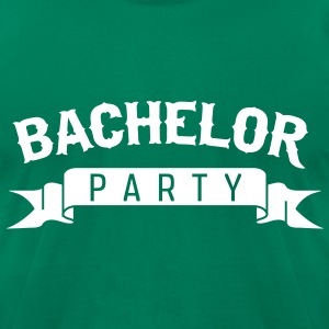 Bachelor Party Ribbon T-Shirts - Men's T-Shirt by American Apparel