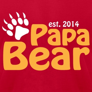 Papa Bear New Dad 2014 T-Shirts - Men's T-Shirt by American Apparel