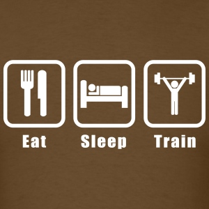 Eat Sleep Train! Men's T-Shirts - Men's T-Shirt