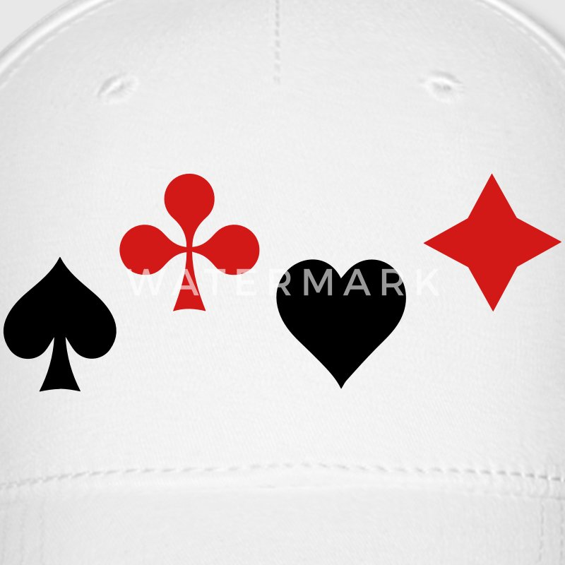 Ace of Spade Aces Hearts diamonds clubs 2c Caps - Baseball Cap