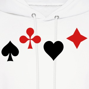 Ace of Spade Aces Hearts diamonds clubs 2c Hoodies - Men's Hoodie