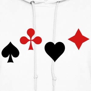 Ace of Spade Aces Hearts diamonds clubs 2c Hoodies - Women's Hoodie