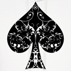 Ace of Spade floral tribal spades poker hold ´em Hoodies