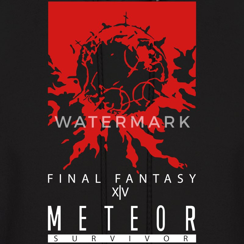 FFXIV:ARR Meteor Survivor Men's Hooded Sweatshirt - Men's Hoodie