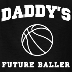 Daddy's Future Baller Kids' Shirts