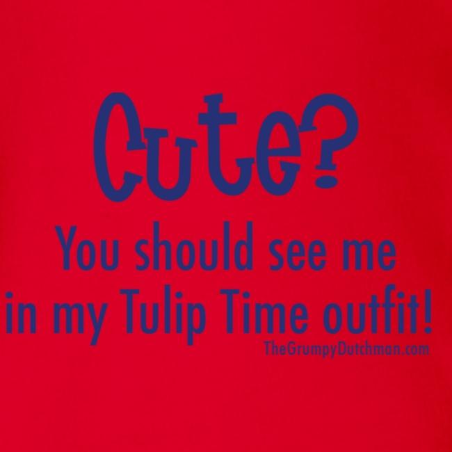 Tulip Time (blue lettering for lighter shirts)