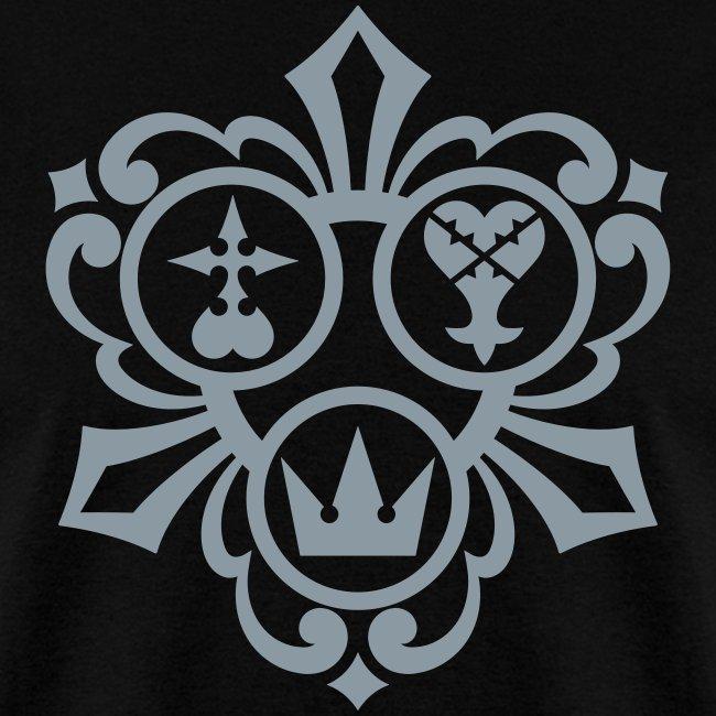 Kingdom Hearts (Metallic Silver) Men's Standard Weight T-Shirt