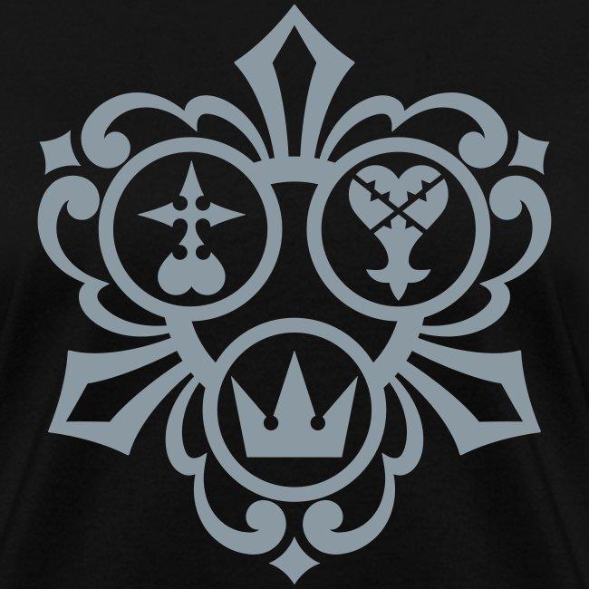 Kingdom Hearts (Metallic Silver) Women's Standard Weight T-Shirt