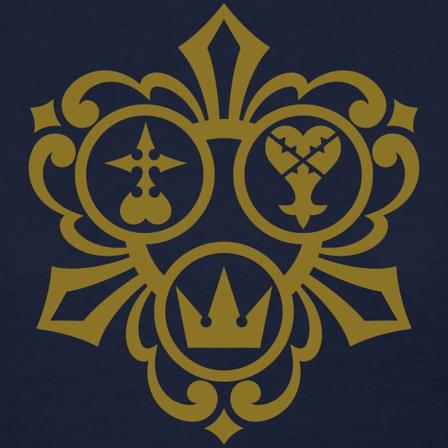 Kingdom Hearts (Metallic Gold) Women's Standard Weight T-Shirt