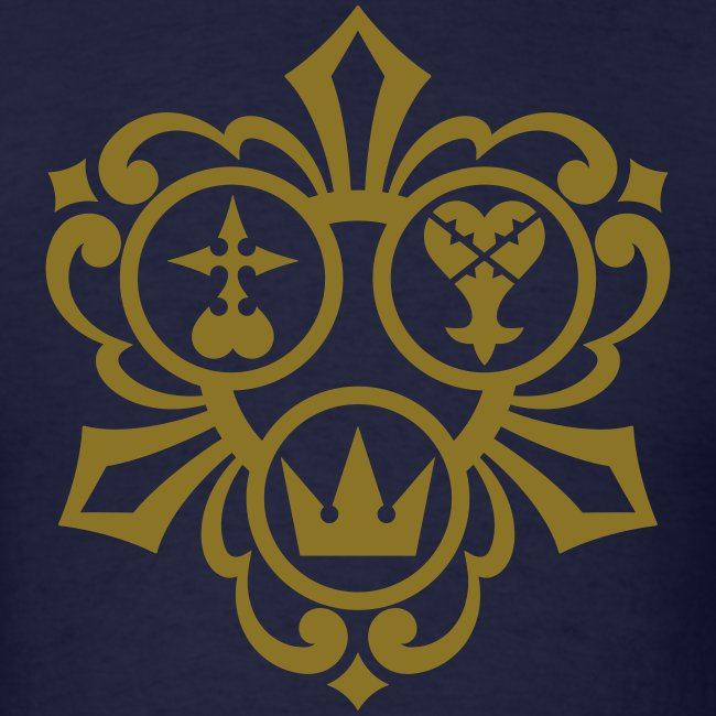 Kingdom Hearts (Metallic Gold) Men's Standard Weight T-Shirt
