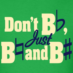 Don't Be Flat, Just Be Natural (Men's) - Men's T-Shirt