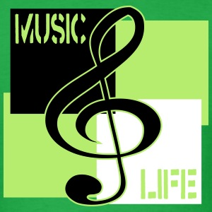 Music, Life (Treble) (Men's) - Men's T-Shirt