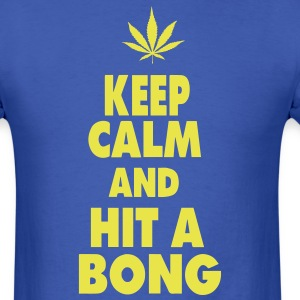 KEEP CALM AND HIT A BONG T-Shirts - Men's T-Shirt