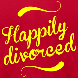 Happily divorced - Men's T-Shirt by American Apparel
