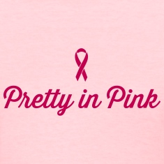 Pretty in Pink RIbbon Women's T-Shirts