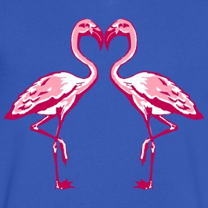 two flamingos T-Shirts - Men's V-Neck T-Shirt by Canvas