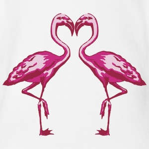 two flamingos Baby & Toddler Shirts - Short Sleeve Baby Bodysuit