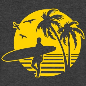 Surfers Beach T-Shirts - Men's V-Neck T-Shirt by Canvas