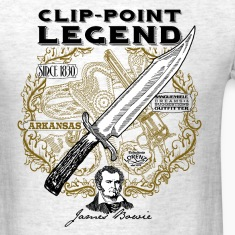 bowie_knife_light_background T-Shirts