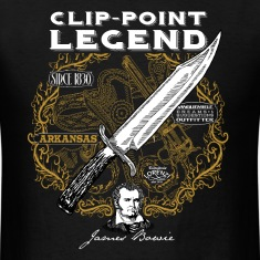 bowie_knife_on_dark_background T-Shirts