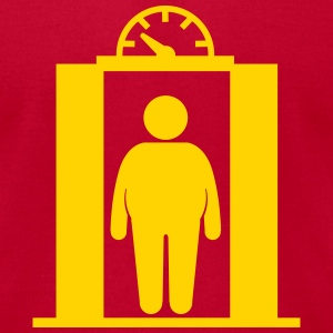 fat elevator man T-Shirts - Men's T-Shirt by American Apparel