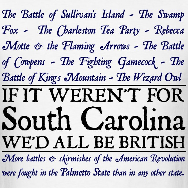 South Carolina Historical Battle Tee